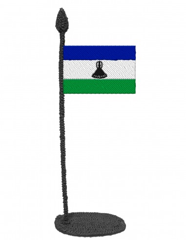 Flag of Lesotho (Free Template For a 3D Pen)