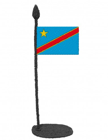 Flag of DR Congo (Free Template For a 3D Pen)