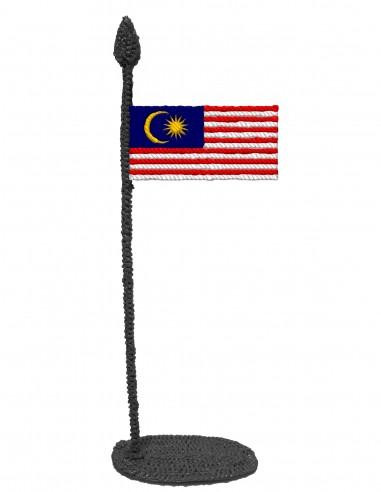 Флаг Малайзии (Трафарет для 3D-ручки)