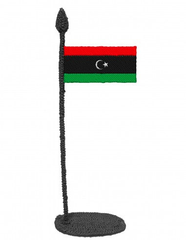 Flag of Libya (Free Template For a 3D Pen)