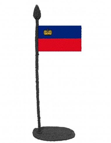 Flag of Liechtenstein (Free Template For a 3D Pen)