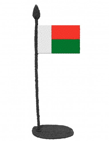 Flag of Madagascar (Free Template For a 3D Pen)