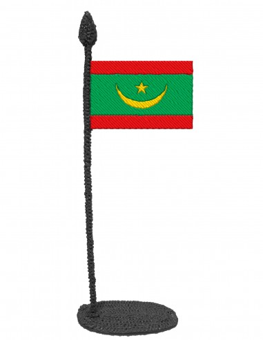 Flag of Mauritania (Free Template For a 3D Pen)
