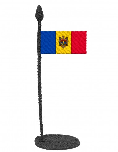 Flag of Moldova (Free Template For a 3D Pen)