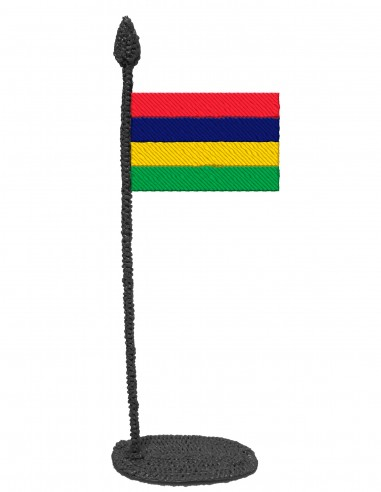 Flag of Mauritius (Free Template For a 3D Pen)