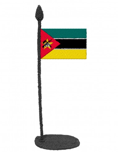 Flag of Mozambique (Free Template For a 3D Pen)