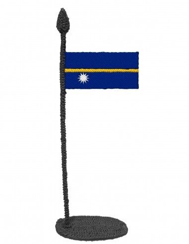 Flag of Nauru (Free Template For a 3D Pen)