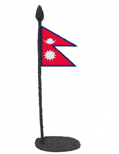 Flag of Nepal (Free Template For a 3D Pen)