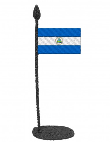Flag of Nicaragua (Free Template For a 3D Pen)
