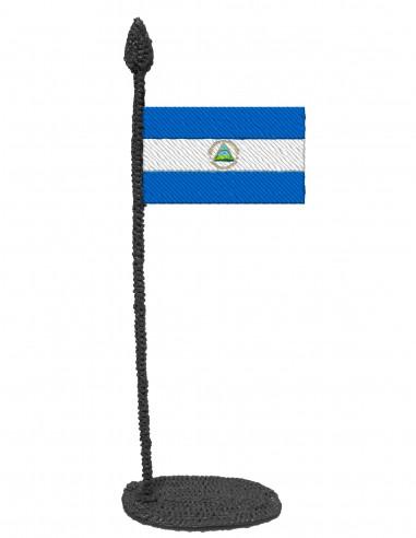 Флаг Никарагуа (Трафарет для 3D-ручки)