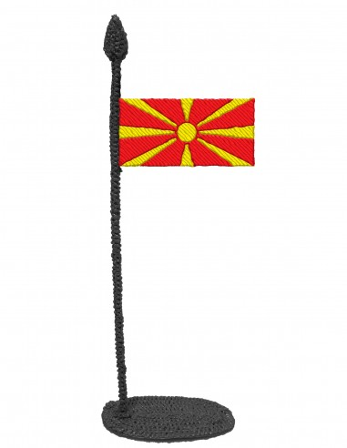 Flag of North Macedonia (Free Template For a 3D Pen)