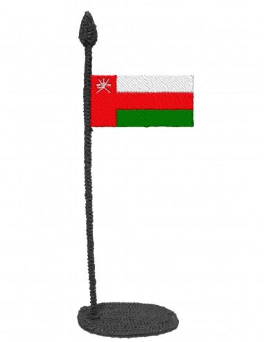 Флаг Омана (Трафарет для 3D-ручки)