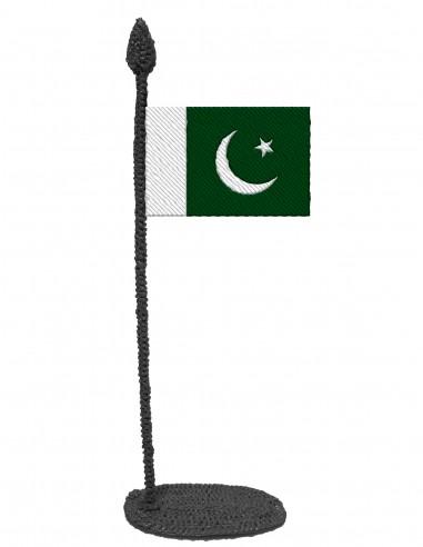 Флаг Пакистана (Трафарет для 3D-ручки)