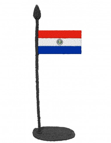 Flag of Paraguay (Free Template For a 3D Pen)