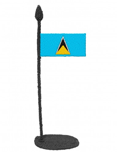 Flag of Saint Lucia (Free Template For a 3D Pen)