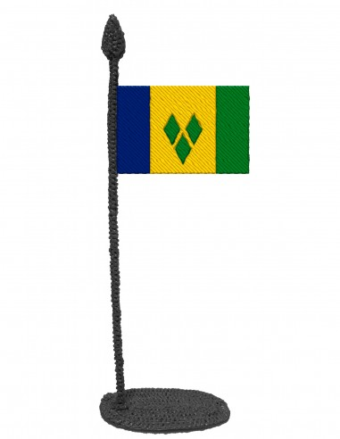 Flag of Saint Vincent And The Grenadines (Free Template For a 3D Pen)