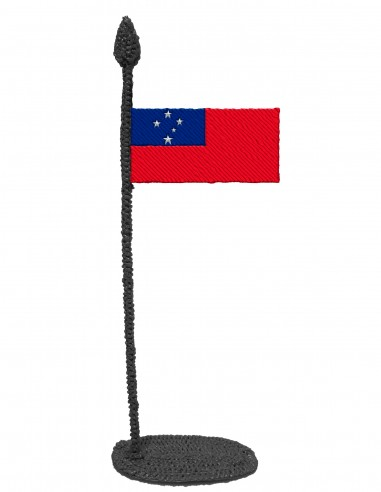 Flag of Samoa (Free Template For a 3D Pen)