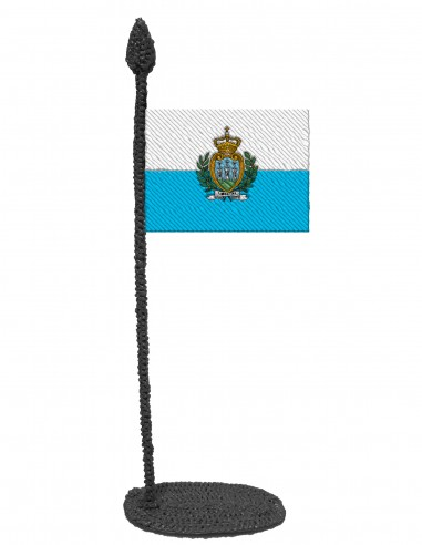 Flag of San Marino (Free Template For a 3D Pen)