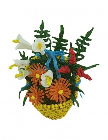 Корзина цветов -Подарок на 8 марта (трафарет для 3D-ручки)