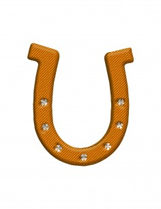Lucky Horseshoe (Free Template For a 3D Pen)
