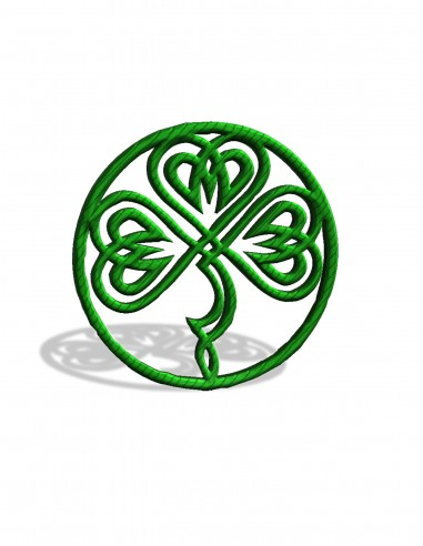 Кулон кельтский клевер (трафарет для 3D-ручки)