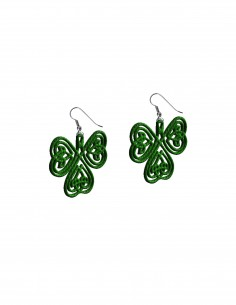 Clover Earrings (Free Template For a 3D Pen)