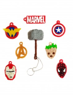 Брелочки Мстителей Marvel (трафарет для 3D-ручки)
