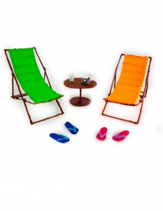 Chaise Lounges and Flip Flops (Free Template For a 3D Pen)