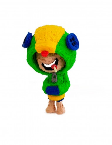 Leon from Brawl Stars (Free Template For a 3D Pen)